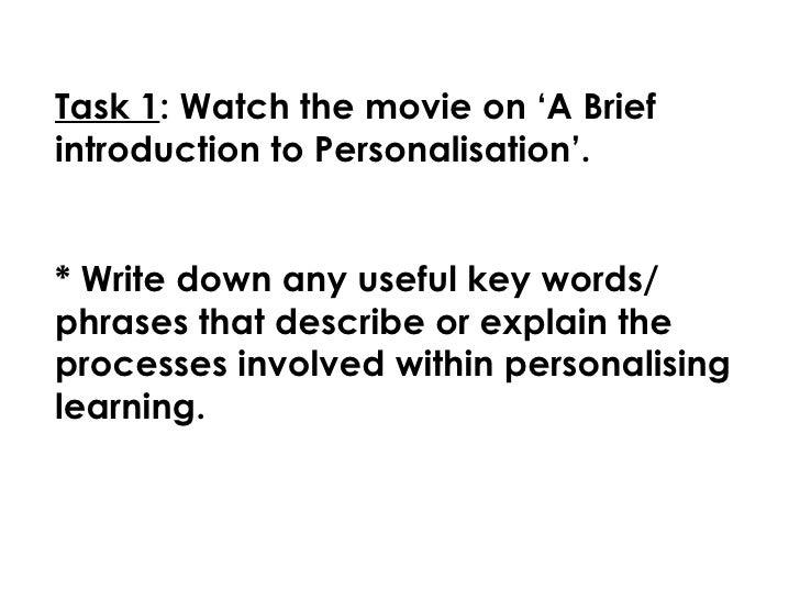 Personalisation Powerpoint