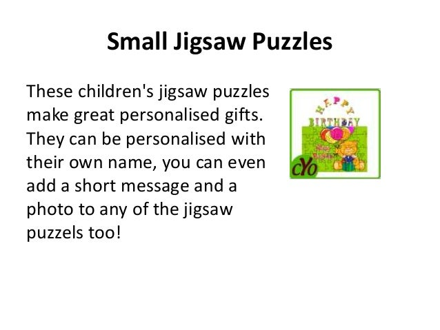 Personalised baby gifts 4 small jigsaw puzzles these childrens jigsaw puzzles make great personalised gifts negle Image collections