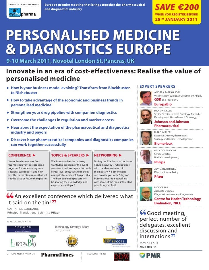 europe's premier meeting that brings together the pharmaceutical                                                          ...