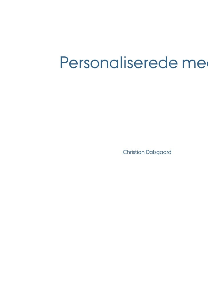 Personaliserede medier       Christian Dalsgaard