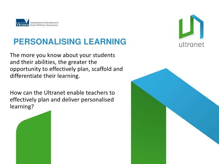 PERSONALISING LEARNINGThe more you know about your studentsand their abilities, the greater theopportunity to effectively ...
