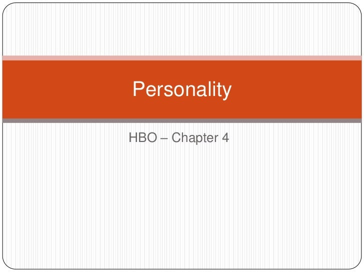 PersonalityHBO – Chapter 4