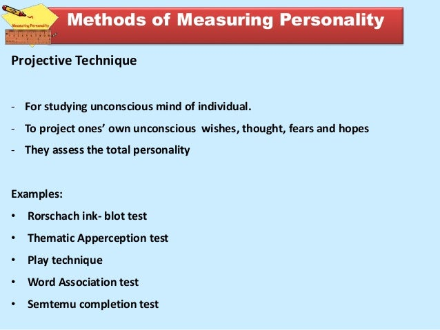 methods of assessment of personality