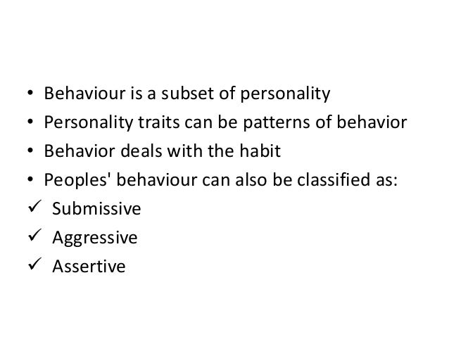 submissive personality characteristics