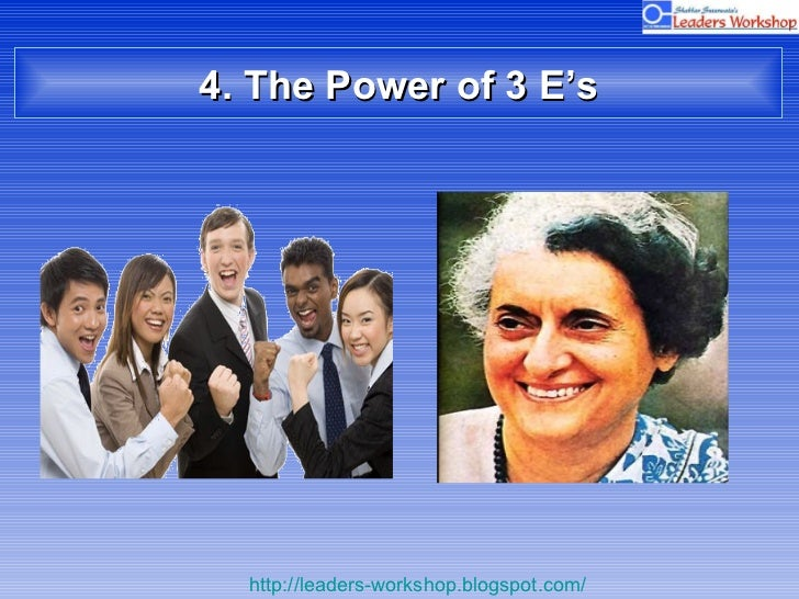 4. The Power of 3 E's