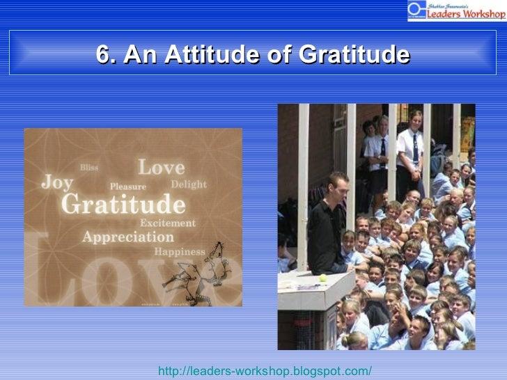 6. An Attitude of Gratitude