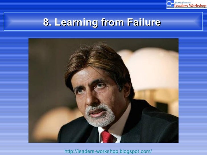 8. Learning from Failure