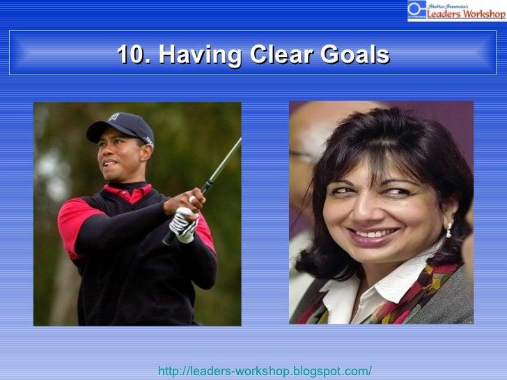 10. Having Clear Goals