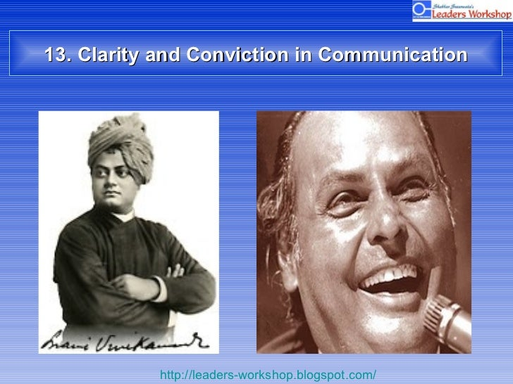13. Clarity and Conviction in Communication