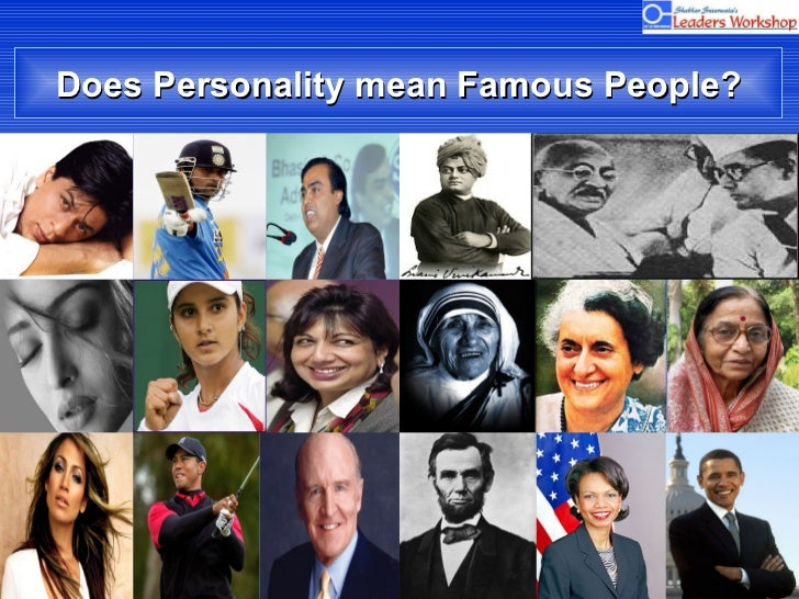 Does Personality mean Famous People?