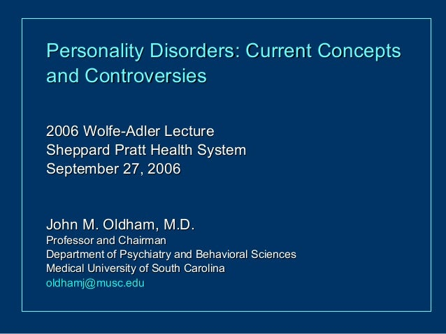 Controversies Surrounding Classification of Personality Disorder
