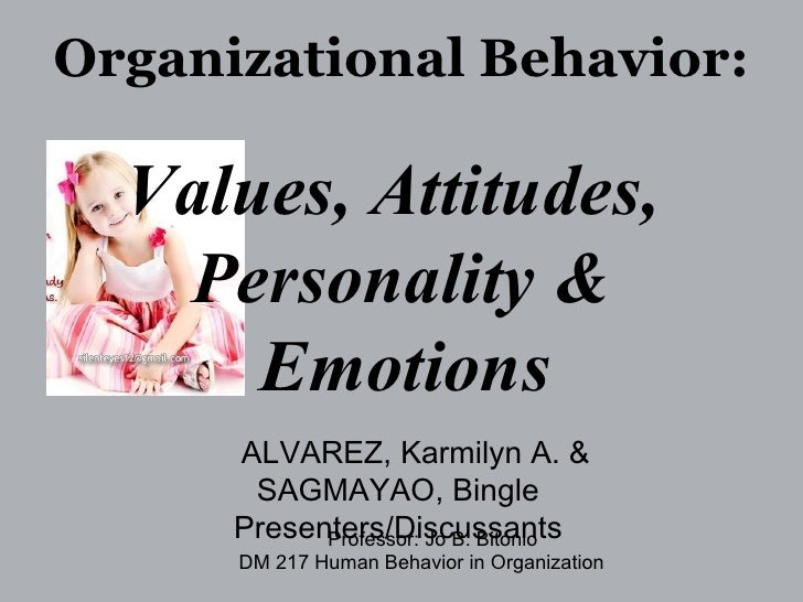 organisational behaviour- attitudes & value essay Keywords: organizational change, employees attitude, job satisfaction, job security and commitment i introduction change in some way is the necessary aspect of human life is changechange is the only constantin this.