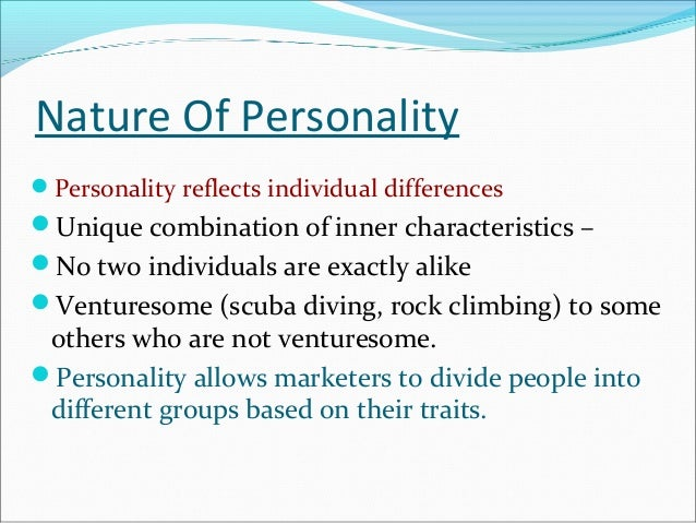 Theories of personalities