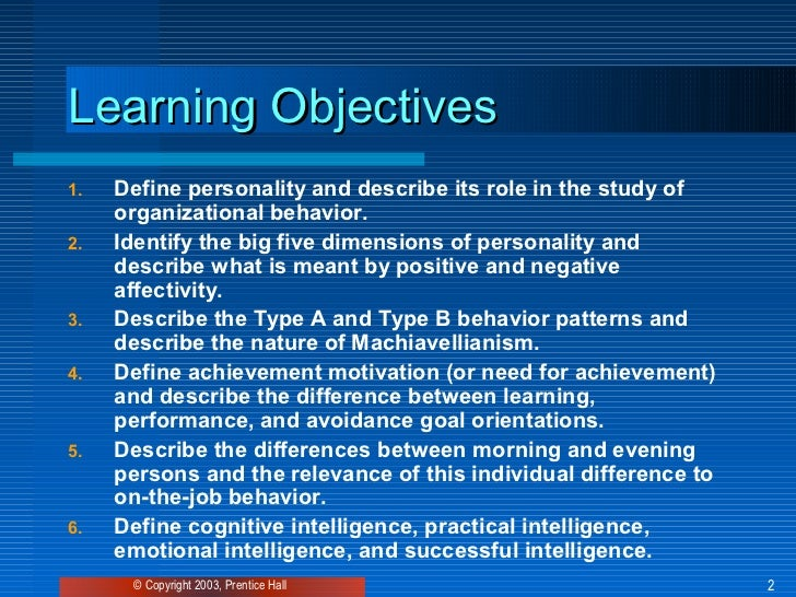 personality defined as a consistent behavior pattern The definition of personality can be complex, and the way it is defined can influence how it is understood and measured according to the researchers at the personality project, personality is: the coherent pattern of affect, cognition, and desires (goals) as they lead to behavior (revelle, 2013.