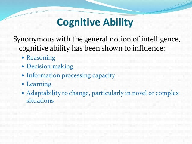 cognitive ability Get the competitive edge with jobtestprep's online cognitive ability assessment test preparation – test information, examples, practice tests, and more.