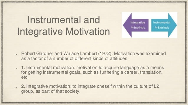 integrative and instrumental motivation