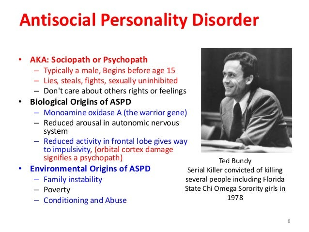 antisocial personality disorder or a sociopath Detailed analysis of antisocial personality disorder the current dsm-iv approach essentially says that anything which is not sociopathy, psychopathy or.