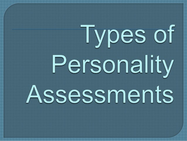 personality assessment 2nd sem