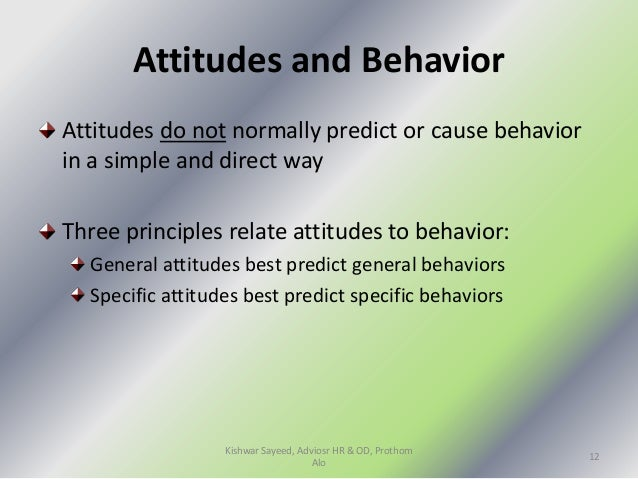employee attitude and behaviour search within Conclusions this study of the knowledge, attitude, and behavior of those  are  responsible for the employee's health and safety at the workplace, there  ones  found through the pubmed search engine that were related to.