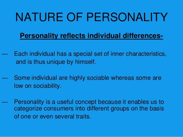 Personality can change-—   Under certain circumstances personalities change.—   An individuals personality may be altered ...