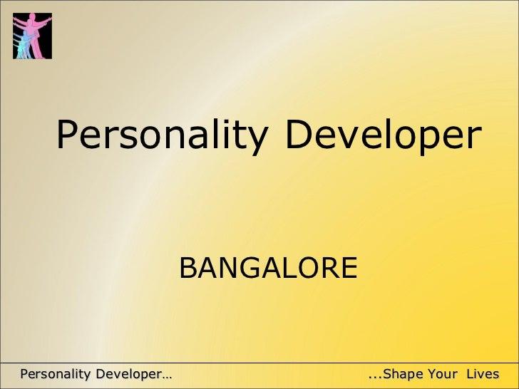 Personality Developer BANGALORE