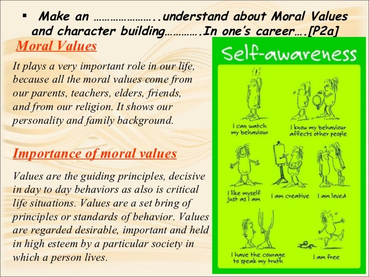 importance of moral values speech