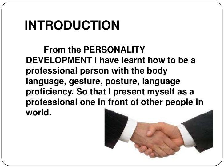 Essay on personality development