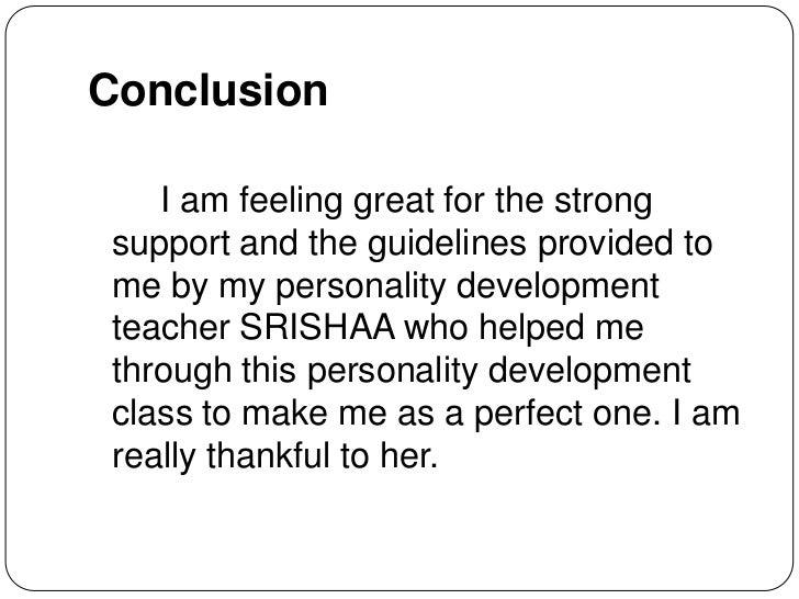 personal development conclusion