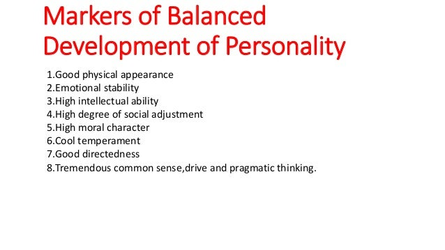 how to develop a balanced personality