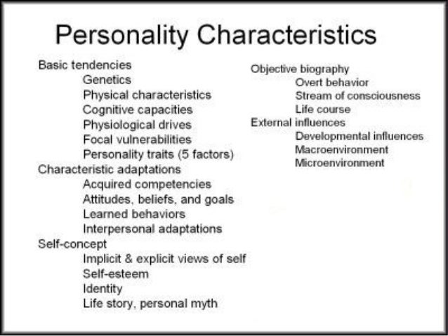 types of personalities and traitspersonality development