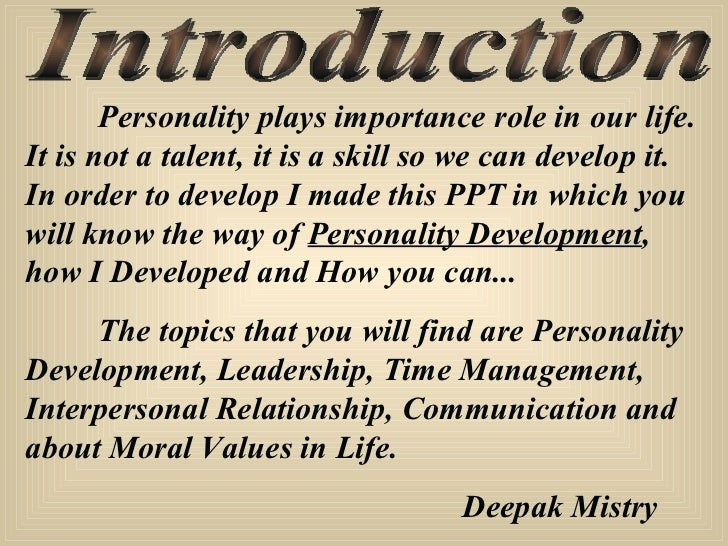 essays on personal development The structure of your essay personality development is as good as the content this is more especially when you are writing the essay in college we can help you with wonderful personal development writing an essay introduction whenever you need one these essays are supposed to.