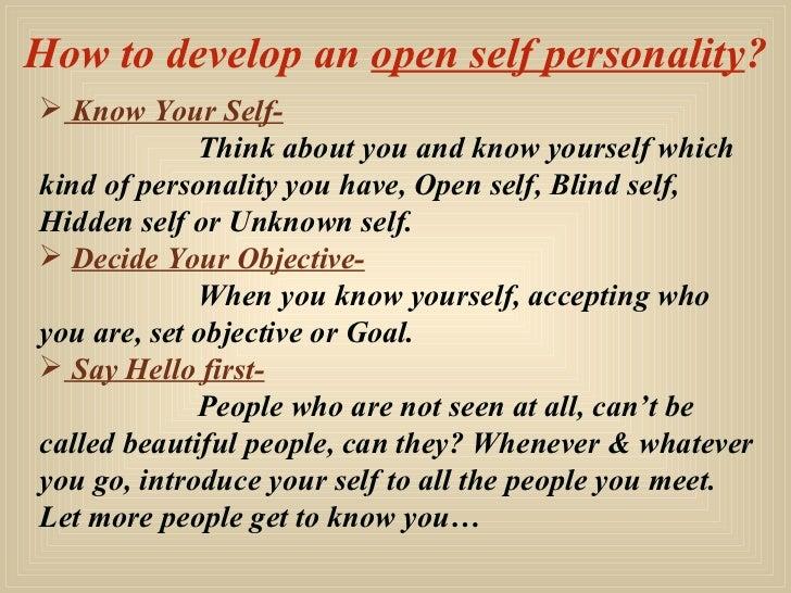 essay personality development