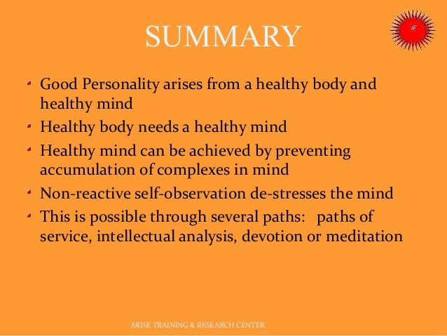 developing a healthy personality Each describes a level of personality development which is beyond normality  leading to healthy personality the health of personality is considered important  for.