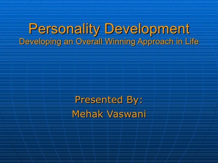 Personality development ppt presentation