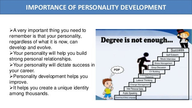 significance of personality development for a 2012-9-6  personality development is influenced by our historical heritage 9 indian environment: the changing scenario 1 2 i) ii) personality vs the environment.