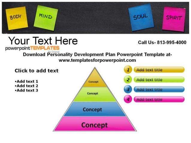 Personality Development Plan Powerpoint Template At Powerpoint Www.  Templatesforpowerpoint. Com Concept .  Personality Development Plan