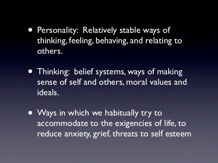 Accommodating or suggestible personality traits