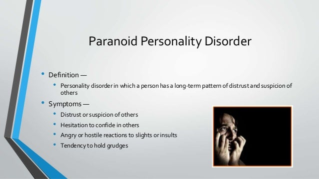 dating a man with paranoid personality disorder