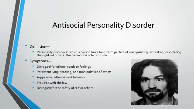 dating antisocial personality Anti-social personality disorder is a research paper, with health, psychology links, about maladaptive, egotistical traits found in 3 percent of the population.