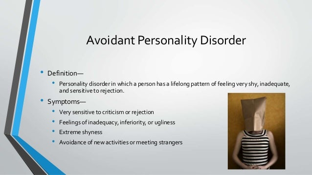 Avoidant personality disorder dating site 10