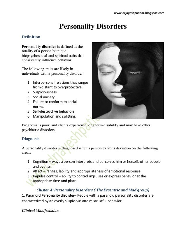 personality disorders slideshare disorder definition