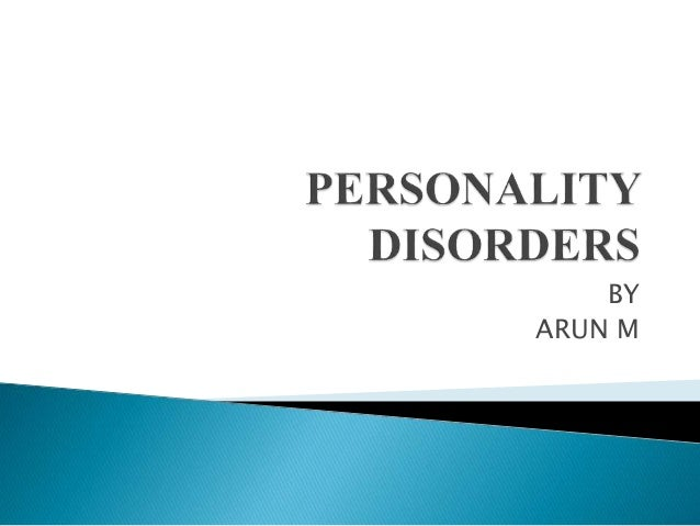 Personality disorders Slide 2