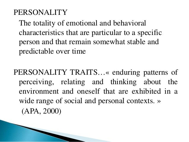 Personality disorders Slide 3