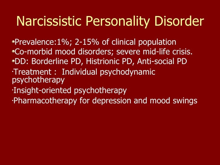 Compensatory Narcissistic Personality Disorder
