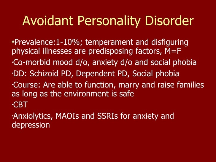 Dating someone with avoidant personality disorder