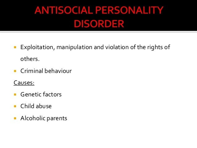 antisocial personality disorder affects family relations and interactions Check for interactions drug basics & safety  family & pregnancy all about pregnancy  antisocial personality disorder affects more men than women experts don't know for sure what.
