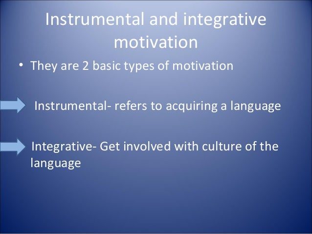 Significance of Instrumental and Integrative Motivation in Second-Language Acquisition