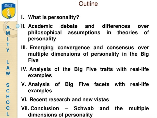 an analysis of the theories of personality Cognitive theories are theories of personality that  with minimal intervention or  interpretation by the therapist.
