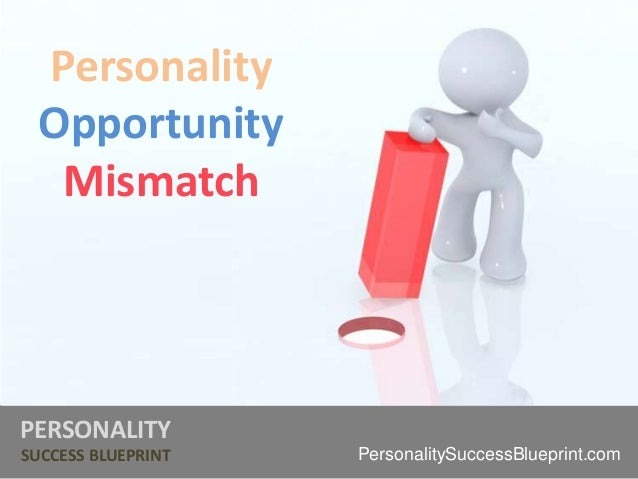 PERSONALITYSUCCESS BLUEPRINT PersonalitySuccessBlueprint.comPersonalityOpportunityMismatch