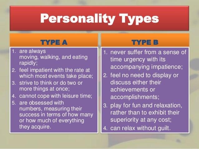 type a vs type b personality traits